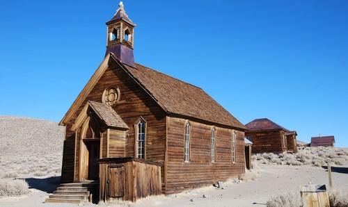 Pueblo fantasma abandonado en California
